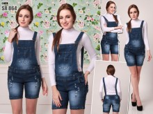 Overall Jeans Hot Pants #864 M / L / XL