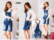 Overall Jeans Wash Rip #867 M L XL
