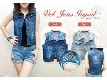 Rompi Jeans Gold Stud #8868 IMPORT