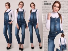 Overall Jeans Kancing Depan #891 M/L/XL