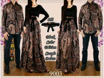OBRAL Batik Couple 1 Set Khusus Hitam #9003