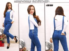 Jumpsuit Jeans Stretch Non Wash #904