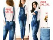 Overall Jeans Big Size Laser Rip #SR908 2XL,3XL