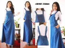 Dress Kodok Jeans 2 Warna #942