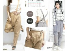Twill Harem Pants Suspender #SR968