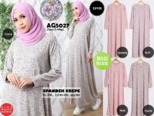 Gamis Babyterry flower zipper #AG5027