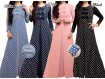 Gamis Premium Polkadot Kancing Militer #AL5019