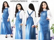 Overall Dress Maxi Jeans #034 S/M/L