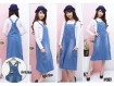 Overall Midi Dress Jeans #069