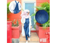 Jumpsuit Jeans Stretch Biru Wash #106 M L XL