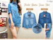 Kemeja Pocket Button Jeans Shirt #130