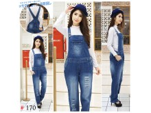 Overall jeans rip big size #170 XL/2XL/3XL