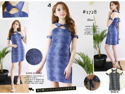 Bodycon Collar Dress With Tile #1728
