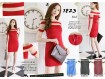 Dress Bodycon Tile Bahu #1823