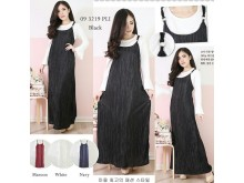Overall Dress Plisket Bonus Inner #3219
