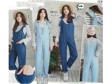 Playsuit Soft Jeans Kulot Bonus Stripes Top #3520