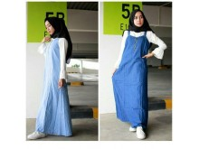 Overall Dress Jeans Bonus Manset Spandeks #3529
