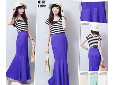 Rok Mermaid Jersey Warna #3913
