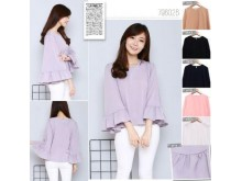 Hijup Flare Long Sleeve Top #7960