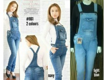 Jumpsuit Jeans Basic 2 Warna #861 M L XL