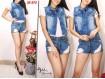 Rompi Jeans Ripped Washed #874