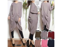 Tunik Dress Serut Hijup #9002