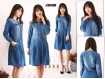 Tunik Jeans Dress Kerah Bulat #996