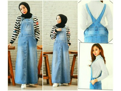 Overall Dress Jeans Wash Biru Muda #017 M/L/XL