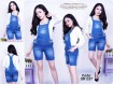Kodok Jumpsuit Jeans Stretch #037 S/M/L