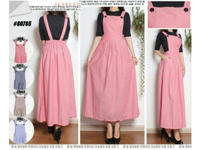 Overall Dress Katun Chambray #8078-5