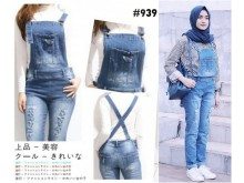 Jumpsuit Ripped Jeans Stretch #939 S/M/L