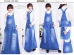 Jumpsuit Dress Big Laser Jeans #063 XL/2XL/3XL