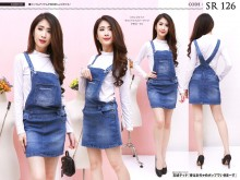 Jumpsuit skirt jeans stretch #126 M/L/XL