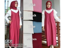 Set Tunik Crepe Dengan Maxi Dress Baloteli #188