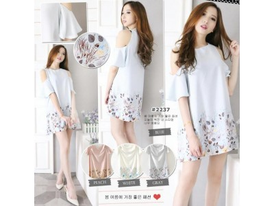 Dress Sabrina Lengan Bolong #2237