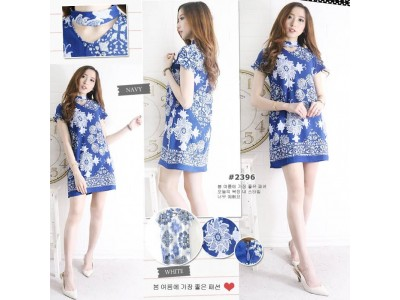 Dress Motif Batik Porcelain #2396