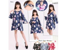 Sabrina Flower Casual Dress #2485