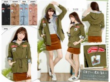 Jaket Parka Hoodie Patches #3400