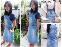 Jumpsuit Jeans Dress 7/8 #790 S/M