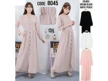 Maxi Dress Kancing Busui #V8045