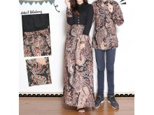 Batik Couple Set Dress dan Kemeja #B325
