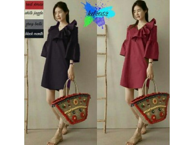 Dress V Top LIpat Scuba #2052