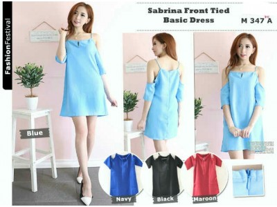 Sabrina Front Tied Basic Dress #M347A