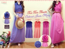 Gamis Soft Jeans Kutung #922