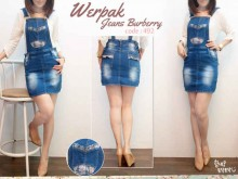 Mini Skirt Jumpsuit Jeans #492 S/M/L