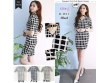 Dress Choker Kotak Kotak #M303C