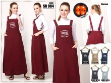 Jumpsuit Dress Katun Bordir #SR984