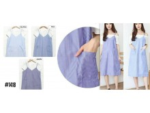 Set Dress Denim Overall Dan Dalaman Sabrina #1418