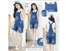 Overall Celana Pendek Jeans Stretch #216 M/L/XL