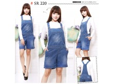 Celana overall jeans stretch jumbo #220 2XL